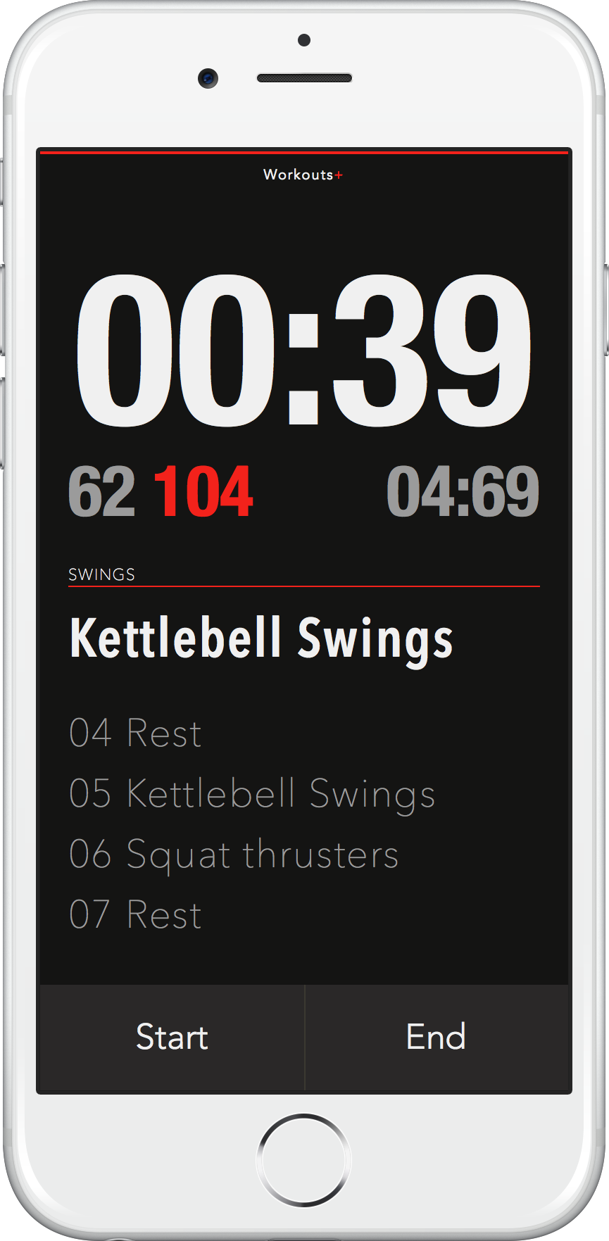 Workout+ Interval Timer for iPhone
