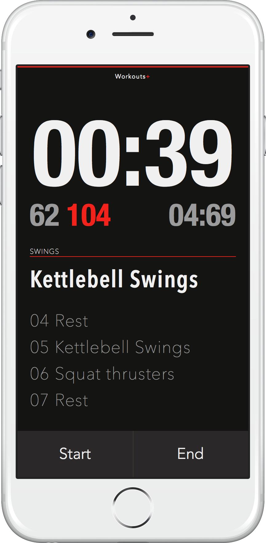 Intervals+ Interval Timer app for iOS