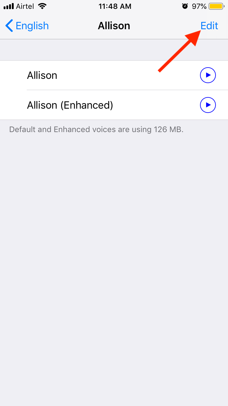 Managing Downloaded Voices on iOS
