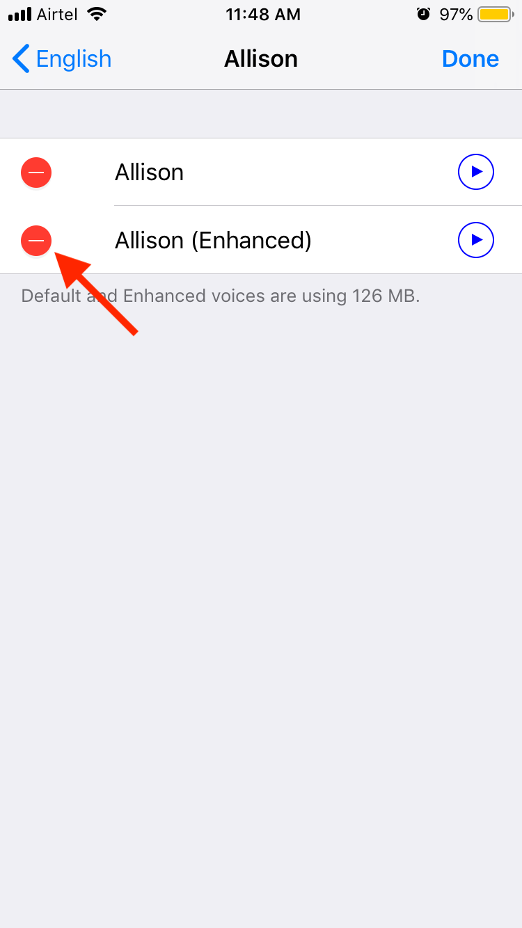 Deleting Downloaded Voices on iOS